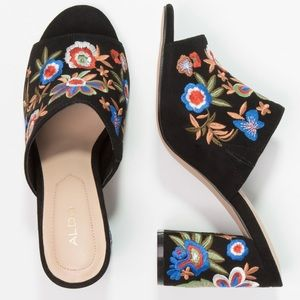 """Also Embroidered Mules """"Yaessi"""" Mules Size 8.5"""
